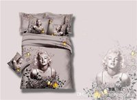 Wholesale 2015 Marilyn Monroe luxury oil painting d bedding set queen size duvet comforter covers bed sheet for home