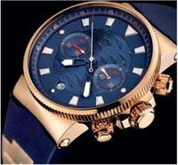 Cheap High quality style men watches brand, Quartz Chronograph blue dial wrist Watch UN11 for Mens