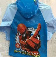 Wholesale Best D Cartoon children Minion Minion Frozen fever PVC Raincoat Elsa Anna Snow white Princess rainwear Spider Man Pony Rainsuit raincoats
