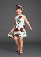 100% cotton baby clothes - Wl Monsoon Baby Girls Rose Floral Dress With Cotton Brocade Children Dress European Designer Kids Girl Dress Girls Clothing Y