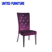 Wholesale Fabric Covered Stacking Louis Dining Chair morden French style dining chair Wood grain and fabric louis chair C