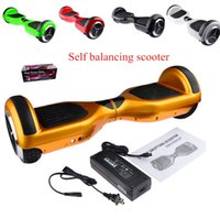 Wholesale Smart Self Balancing Scooter Electric Drifting Skate Board Hoverboard Unicycle with LED Light Cheap Two Wheels Electric Balance Scooters