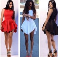 Cheap Hot women bandage Mini Sun Dress 2015 fashion sexy white bodycon bodysuit Celebrity Party club Casual Dresses Plus Size Women Prom Clothing