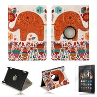kindle fire hd - Tablet Case Elonbo Spray flowers Elephants Rotating Leather Fild Case Cover Front Screen Protector for Kindle Fire HD th Gen