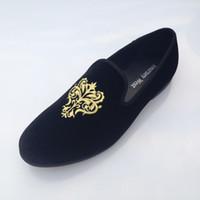 Men flat shoes - New Fashion Men Loafers Dress Shoes Mens Velvet Shoes Vintage Men s Flats Brand Mens Driving Slippers Black Casual Shoes