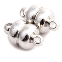 Wholesale 30pcs Silver Magnetic Clasp Jewelry Findings Fit Necklace Bracelet mm