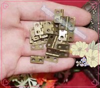 antique bronze hinges - 100PCS bronze COLOR Free shippng good quality hardware furniture accessories antique wooden jewelry MM hinge box wine box