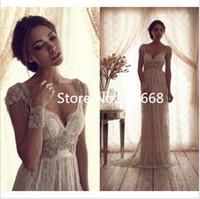 Wholesale 2015 new arrival luxuriant elegance sexy sleeveless dress mermaid chiffon dress applique beads snidel wedding dresses