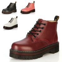 Dark Red Combat Boots - Yu Boots