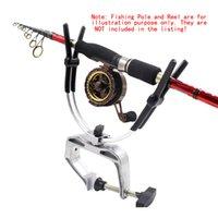 aluminium fishing pliers - New Fishing Pole Holder Aluminium Alloy Clamp Clip Stander Fishing Rod Holder Sea Fishing Rod Bracket Fish Tackle Tool