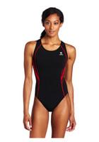 Wholesale new brand TYR Sport Women s Alliance Durafast Splice Maxback Swim Suit pant red blue size from L to xxl