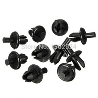 Cheap New High Quality 10pcs 8mm Hole Plastic Car Door Lining Trim Panel Retainer Rivet Clips Fastener
