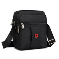 canvas water bag - High Quality Famous Brand Men Bag Oxford Water proof Design Solid Black Zipper Fashion Handbag Messenger Bag New Hot Sale