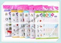 Wholesale To Asia set Educational Reusable Simple Chinese Pronouciation English Math Magic Writing Learning Books