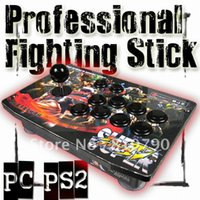 arcade fight sticks - Acrylic Fighting Stick Arcade Joystick with SANWA STICK AND BUTTONS for PC PS2 joypad game stick game controlller