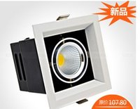 Wholesale New cob w single head Grille Lamps downlight Double head W Ceiling lamp