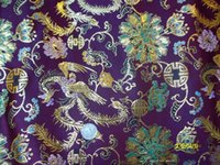 Wholesale Phoenix copper Han Chinese clothing cheongsam costume costume costume costume shroud family name apparel fabric fabric flash