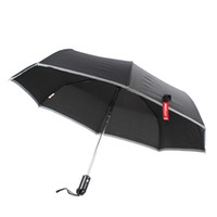 Wholesale 2pcs XT AS001 Car Waterproof Folding Umbrella Automatic Open Close Cuspidal Steel Hammer With Cover CEC_950