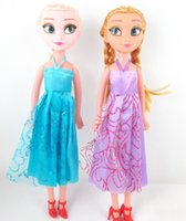 Wholesale Children Dolls Princess Elsa Anna Frozen Cartoon Toys Kids Baby Toy Sonw Queen Doll Kids Christams Birthday Gift Girl s Accessories J4484