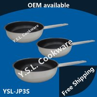 Wholesale Professional Stainless Steel non stick Frying pan PTFE PFOA Cadmium Free non stick Open Skillet induction ready