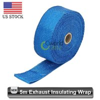 auto exhaust headers - wholesa M Blue Exhaust Insulating Wrap Thermal Tape Fireproof Exhaust Header Pipe Thermal Tape Car Auto Vehicle Horsepower