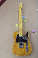 Wholesale New Arrival standard electric guitar Custom Shop Guitar Maple Yellow Strings natural Wood Electric Guitar