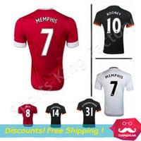 memphis - manchesterees Schweinsteiger Rooney Memphis Soccer jerseys Wayne Rooney Football uniform Red Devil soccer wear shirts