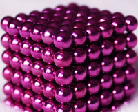 magnetic balls - New Mic Colorful Diameter mm Puzzle Magnetic Magnet Balls Spacer Beads Education Toy With Gift Box