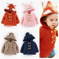 children fashion sweater - 2015 New Autumn Winter Fashion Brand Kid s Jacket Lovely Baby Sweaters Long Sleeve Children Clothing Baby Knitting Jacket