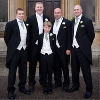dhg - New Arrival Amazing Groom Tuxedos Cheap Custom Made Wedding Party Groomsman Suit Jacket Pants Tie Vest Bridegroom Suit DHG