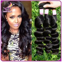 hair extensions - Unprocessed BrazilianHair Weave Peruvian Malaysian Indian Remy Virgin Hair Extensions Natural Color Loose Wave Wavy Human Hair