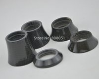 bicycle fork spacer - High quality glossy quot Gloss bicycle carbon fiber headset spacer mtb bike washer top cap fork cover mm mm mm mm