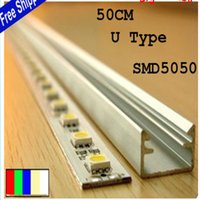 aluminum jewelry showcases - DC12V cm SMD Led Rigid Strip Light Bar Jewelry Showcase Light with U Type aluminum shell PC