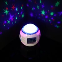 analog projection clock - DHL Music Starry Star Sky Digital Led Projection Projector Alarm Clock Calendar Thermometer Hot Worldwide D007