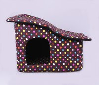 Wholesale The new pet house Inclined top house pet high density sponge Can remove the dog house A zippered mat package