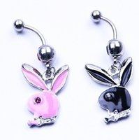 bunny jewelry - 2015 New Hot G Easter Bunny Rabbit Belly Rings Crystal Rhinestone Punk Navel Piercing Belly Button Rings Body Jewelry Belly Piercing