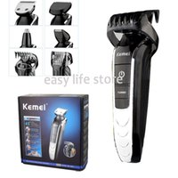 adjustable safety razors - Kemei Men Electric Hair Clipper Shaver Nose Hair Trimmer Cutter Safety Razor Cordless Adjustable Clipper Barber Bimao1832