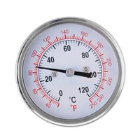 analog temperature gauge - 0 Centigrade Stainless Steel Analog Thermometer Gauge for Oven Grill BBQ Dual Scale order lt no track
