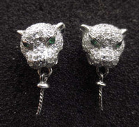 Wholesale Fast mm accessories leopard head earring and pendant silver