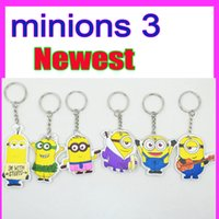 Wholesale NEWEST sales Despicable Me minions rd Banana cartoon keychain car pendant small toys Minions key chain doll gift for kids