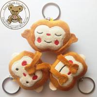 Wholesale New Emoji For Whats app No Saying No Looking No Listening Emoji Monkey Keychain Stuffed amp Plush Monkey Toy Emoji Key Chain