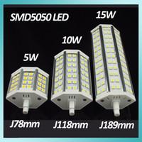 Wholesale 2PCS R7S LED J78mm J118mm J189mm W W W SMD5050 LED R7S Lamp Bulbs