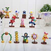 Wholesale 13pcs set cm Super Mario Bros Action Figures toy with box