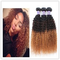 best extensions for curly hair - 1B Two Tone Best Ombre Hair For Black Hair Extensions A Natural Curly Hair Ombre Remy Braiding Hair