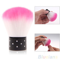Wholesale New2015 Use nail nail brush color with diamond dust brush makeup brush nail soft bristle brush Random delivery