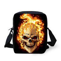 Cheap Hot sale boys bag vintage skull mini messenger bags designer handbags high quality cute children shoulder bag kids coin purses