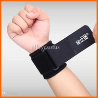 Cheap Wholesale-Free Shipping Rushed Weight Lifting Glove Exercise The Wrist Brace Basketball Straps Adjust Fort Jinshi Pressurized Badminton