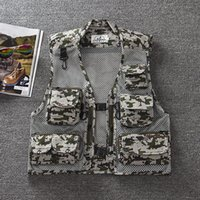 Wholesale Fall Colors Men Outdoor Camouflage Military Vest Tactical Mesh Hunting Shooting Vests Sleeveless Jackets for Photographer Waistcoat