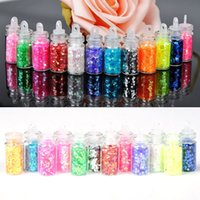 Wholesale 12 Mini Bottle Glitter Nail Art Powder Dust Tip Rhinestone Manicure Nails Tools Beauty Accessories