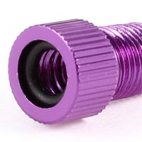 Wholesale FS Hot Presta to Schrader Bike Wheel Tire Valve Converter Adapter Purple order lt no track